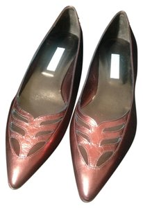 Hollywould Leather Dark Red metallic Flats