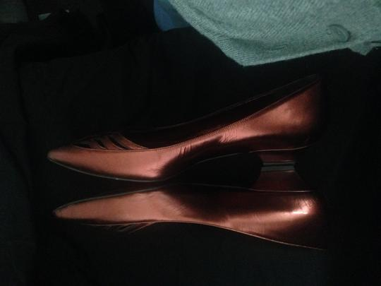 Hollywould Leather Dark Red metallic Flats Image 4