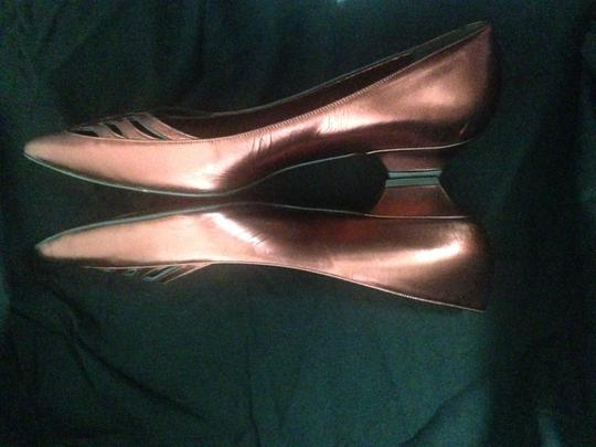 Hollywould Leather Dark Red metallic Flats Image 6