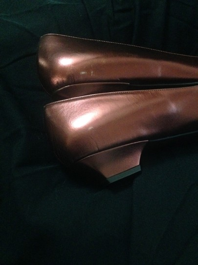 Hollywould Leather Dark Red metallic Flats Image 7