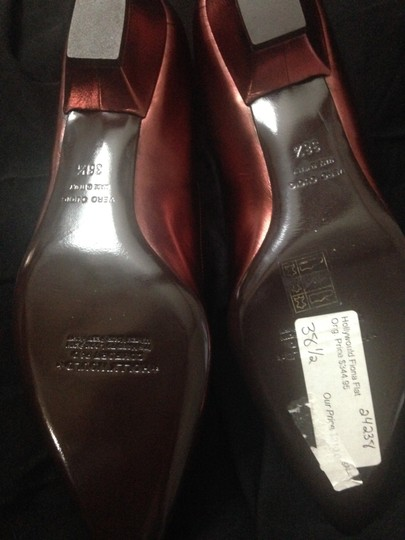 Hollywould Leather Dark Red metallic Flats Image 8