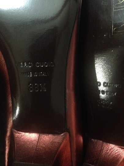 Hollywould Leather Dark Red metallic Flats Image 9