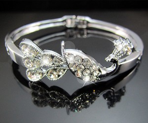 Rhinestone Bangle Bracelet Free Shipping