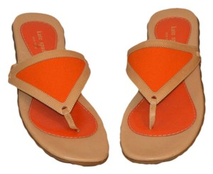 Kate Spade Beige, Orange Sandals
