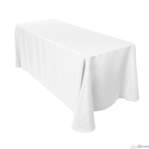 Tablecloths Factory White 3 90x156in Tablecloth
