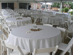 Tablecloths Factory White 8 New 90in Round Tablecloth