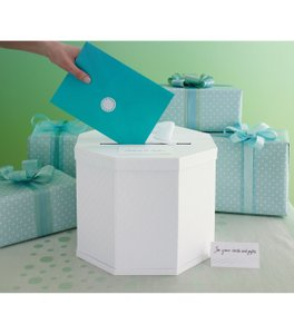 Martha Stewart White Crafts Celebrate Decor Card Box