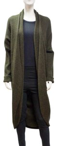 Lanvin River 2009 Longline Cardigan Alpaca Dolman Sleeve Sweater Medium M Coat