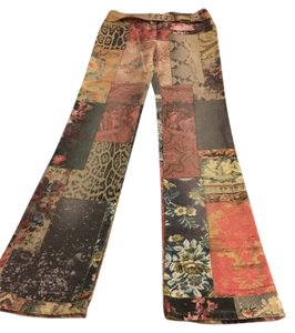 Roberto Cavalli Rock N Roll Collage Multi-color Flare Leg Jeans