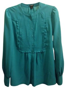 J.Crew Button Down Shirt Dark Turquoise