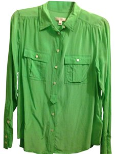 J.Crew Button Down Shirt Neon green