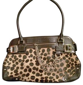 Rafe Satchel in Animal Print(black & Brown)