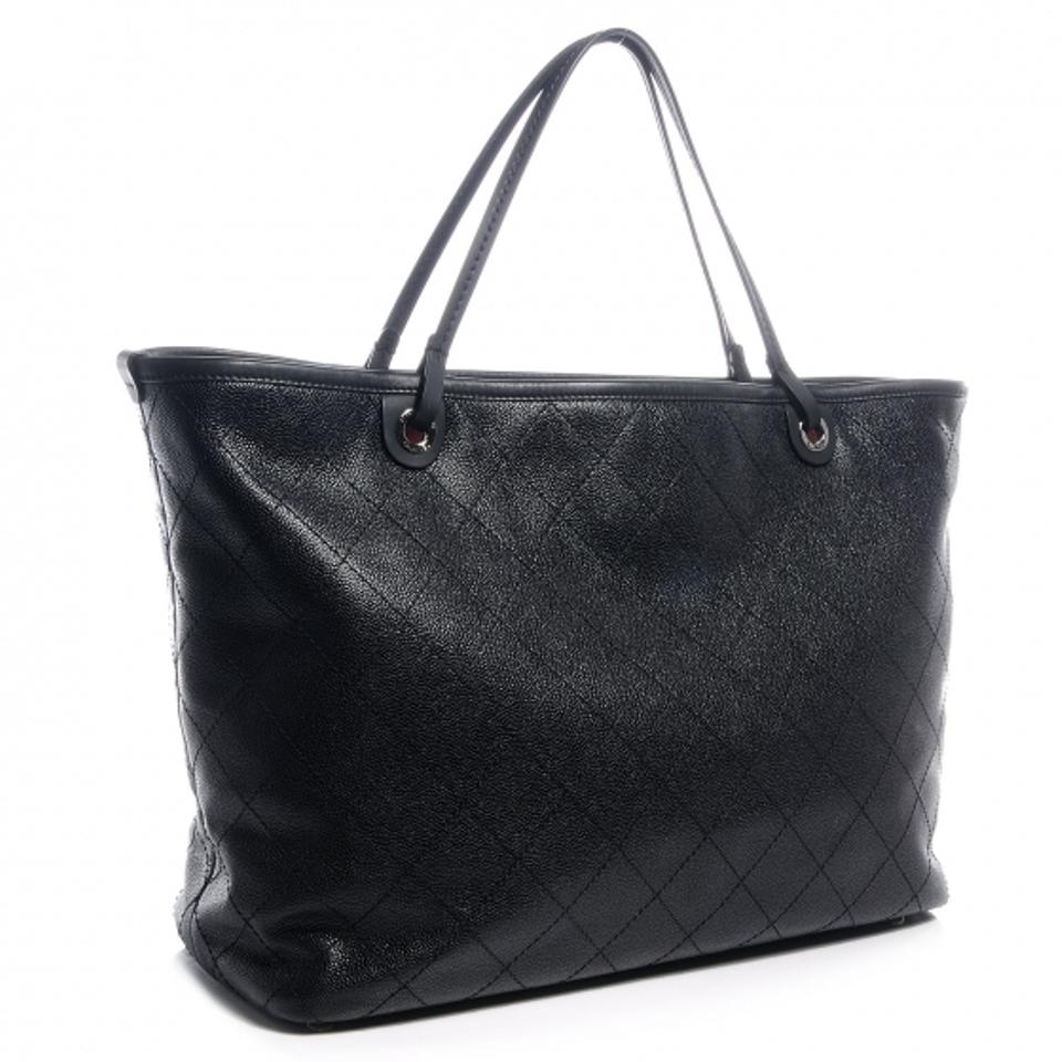 ada2bed5404a Chanel Classic Flap XL Grand Shopping Fever Gst Jumbo Maxi Cc Logo Quilted  Black Caviar Calfskin Leather Tote