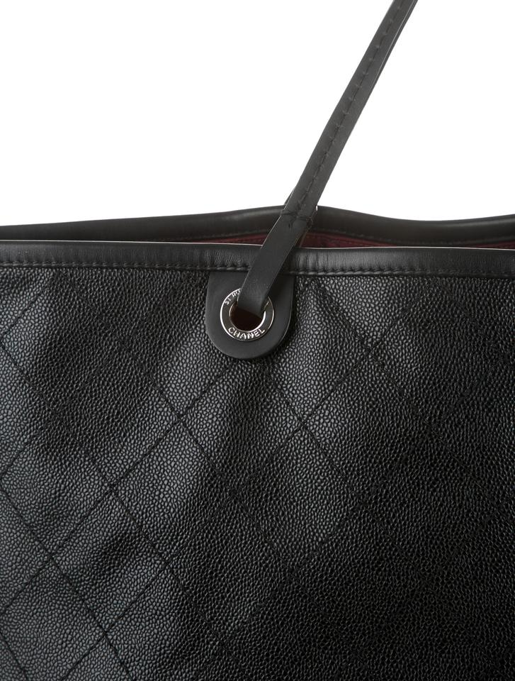 7f2e4d7c950c Chanel Classic Flap XL Grand Shopping Fever Gst Jumbo Maxi Cc Logo Quilted  Black Caviar Calfskin Leather Tote - Tradesy