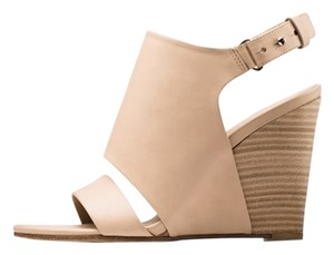Vince Sandal Leather Wedge Nude Wedges