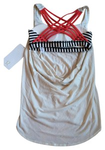 Lululemon New With Tags Lululemon Wild Tank Size 8 Angel Wing Bold Stripe Alarm Stripes