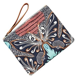 Anthropologie Unique Embroidered Butterfly Wristlet in multi