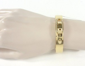 Michael Kors Michael Kors MKJ4614710 Cityscape Buckle Crystal Gold Bangle Bracelet