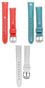Michele Michele Tropical Escape 16mm Strap Band Set Coral Blue White Silver Buckle