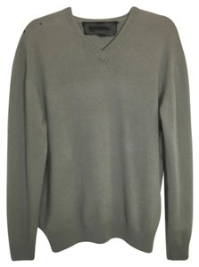 Reformation Cashmere Grey V-neck Sweater