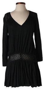 Free People short dress Black Lace Back Belted on Tradesy