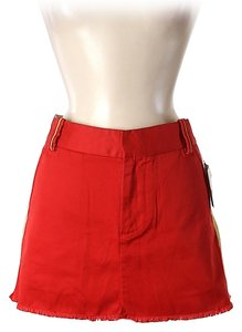 Marc Jacobs Denim Mini Skirt Red
