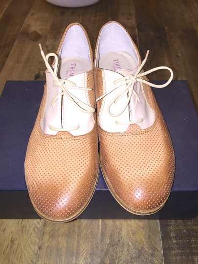 Thompson Oxford Oxford Perforated Perforated Made In Italy Italian Italian Loafers Italian Italy Tod's Loafers Chanel Chanel Beige/Camel Flats Image 3