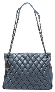 Chanel Gst Grand Shopping Bubble Tote in Charcoal Gray
