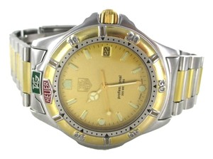 TAG Heuer TAG HEUER 995 406 WATCH PROFESSIONAL TWO TONE GOLD & STAINLESS STEEL DATE GENTS