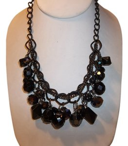 Carol Dauplaise Carol Dauplaise Black Faceted Bead and Fireball Shaky Necklace NWT $22