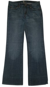 7 For All Mankind Classic 5 Pocket Style Boot Cut Jeans-Dark Rinse