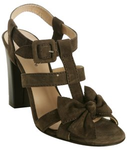 Nanette Lepore Gladiator Heels Bow Italy Brown Sandals