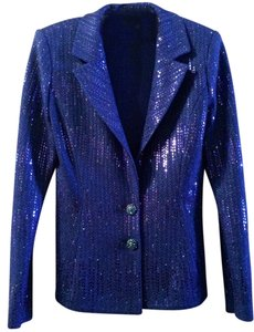 St. John St. John Royal Blue Evening Suit with Sequins