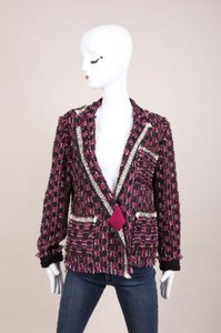 Lanvin Lanvin Multi Purple Sparkle Tweed Ls Blazer Jacket
