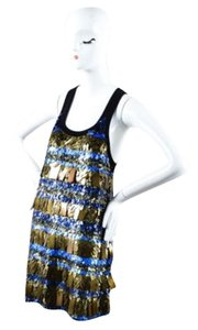 Sonia Rykiel short dress Multi-Color Black Blue on Tradesy