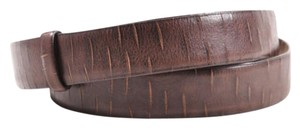 Brunello Cucinelli Brunello Cucinelli Brown Leather Slashed Belt