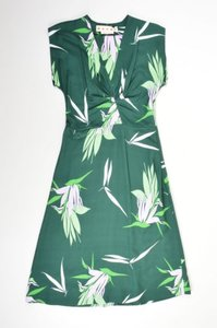 Marni Silk Tropical Floral Print Sleeveless Dress
