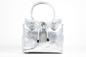 Michael Kors Grain Tote in Silver