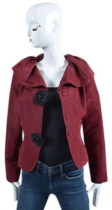 Oscar de la Renta Burgundy Red Jacket