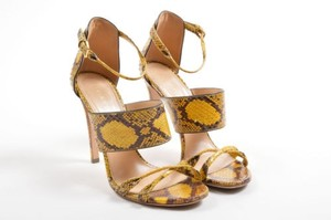 Sergio Rossi Yellow Brown Sandals