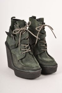 Pierre Hardy Suede Green Boots