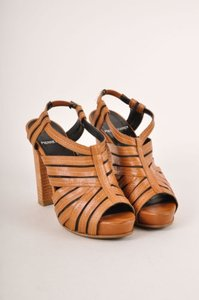 Pierre Hardy Cognac Brown Sandals