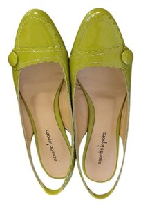 Nanette Lepore Vintage Style Retro Feminine Patent Leather Chartreuse Flats