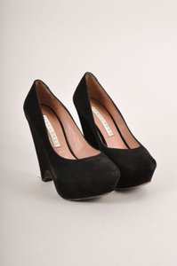 Pura Lopez Black Suede Pumps