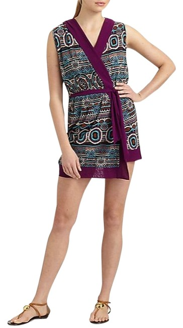 Jean-Paul Gaultier short dress Purple Wrap Hood Cover Up on Tradesy