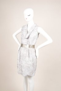 Yigal Azroul Azrouel Gray Abstract Dress