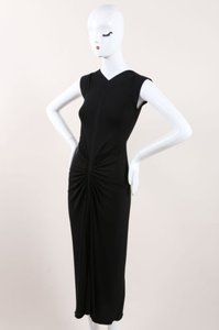Other Herve Leroux Stretch Knit Ruched Full Length Dress
