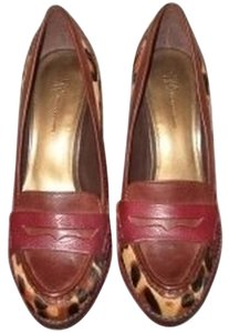 INC International Concepts Pony Print Red Leather Calf Hair Comfy Pony Print pony/red Pumps