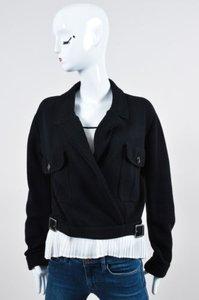 Dior Christian Rib Knit Black Jacket