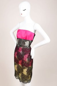 Roland Mouret Black Pink Dress